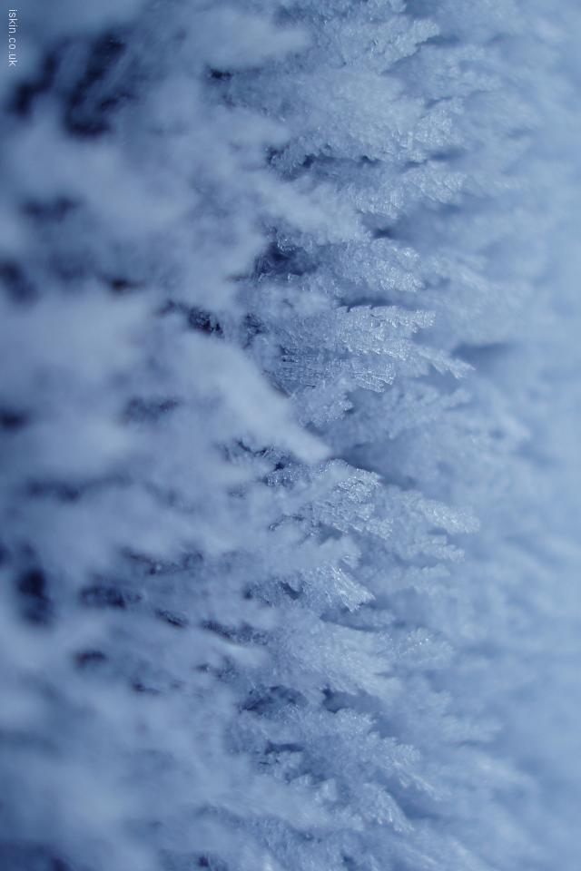 iphone 4 landscape wallpaper Ice Crystals