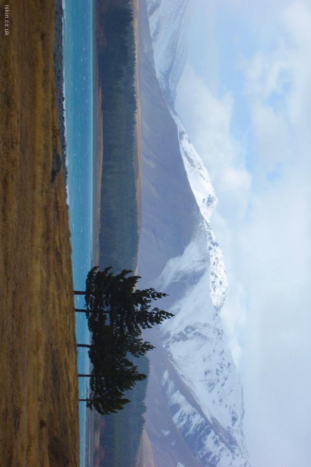 iphone 4 landscape wallpaper Lake Pukaki