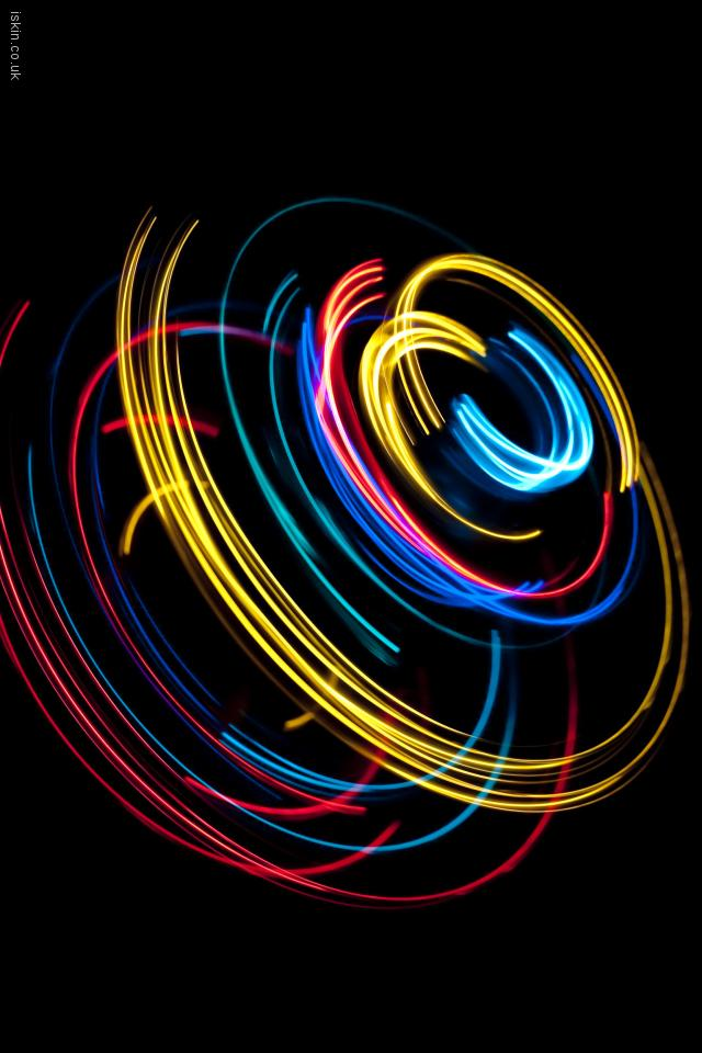 iphone 4 landscape wallpaper light spin