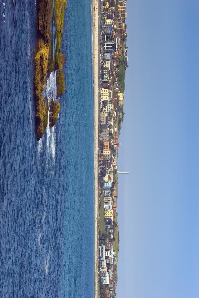 iphone 4 landscape wallpaper north bondi seascape