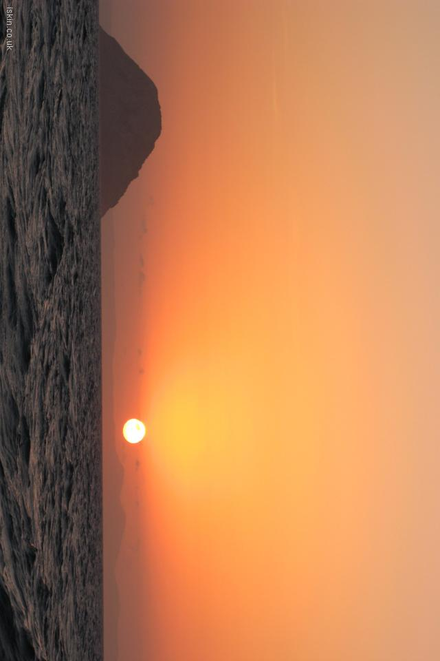 iphone 4 landscape wallpaper sunset fireball