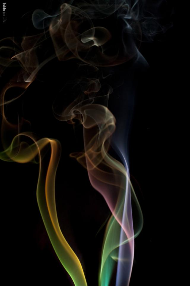 iphone 4 landscape wallpaper colorful smoke whisps