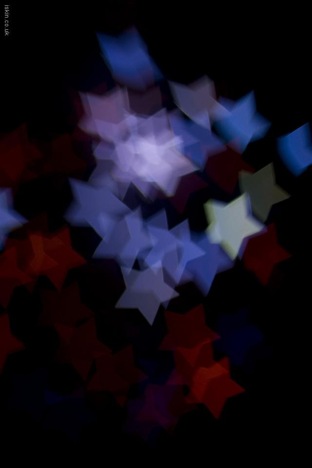 iphone 4 landscape wallpaper Boke Star Shapes