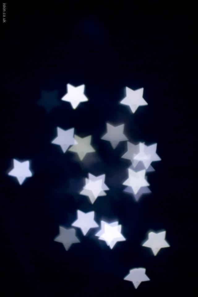iphone 4 landscape wallpaper White Stars