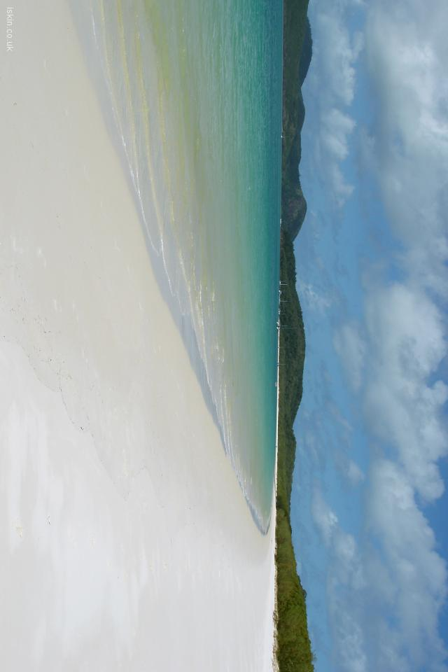 iphone 4 landscape wallpaper Whitehaven Beach