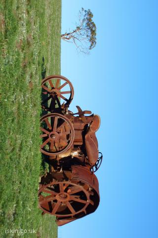iphone landscape wallpaper Rusted Tractor