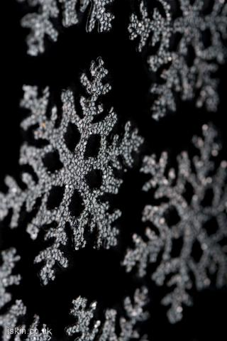 iphone landscape wallpaper snowflakes