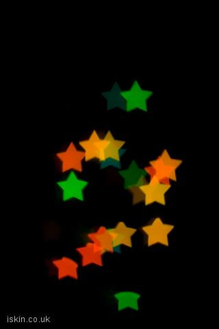iphone landscape wallpaper Christmas Star Lights