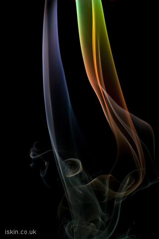 iphone landscape wallpaper ethereal smoke lines