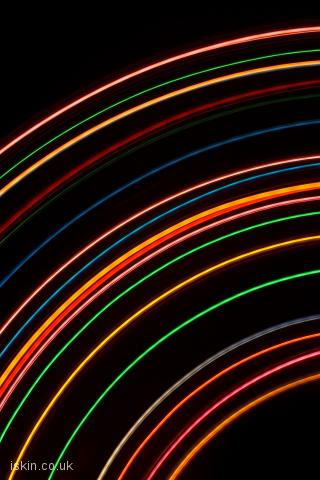 iphone landscape wallpaper Arcing Light