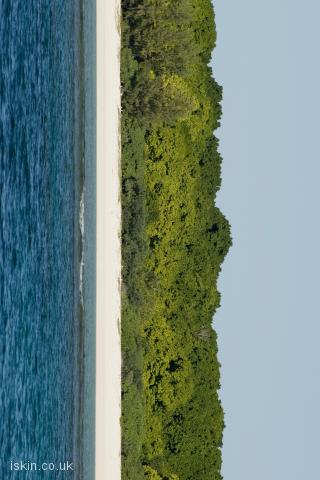 iphone landscape wallpaper Coral Island