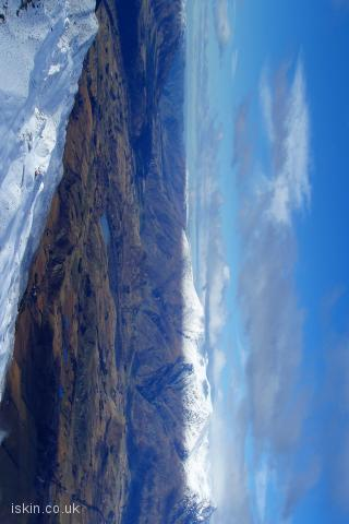 iphone landscape wallpaper The Remarkables Snowline