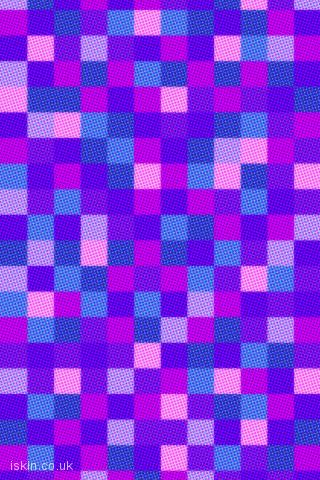 iphone landscape wallpaper halftone dots and squares