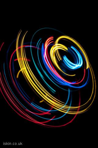 iphone landscape wallpaper light spin