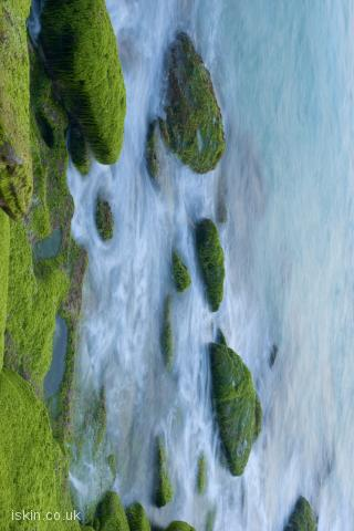 iphone landscape wallpaper Ocean rocks abstract