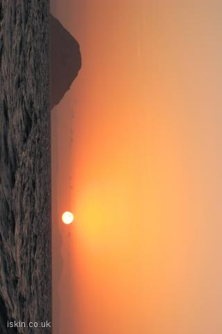 iphone landscape wallpaper sunset fireball