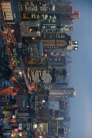 iphone landscape wallpaper osaka skyline