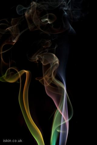 iphone landscape wallpaper colorful smoke whisps