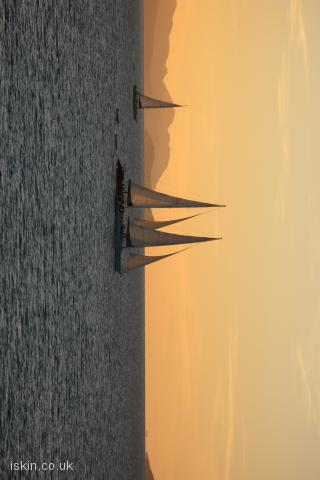 iphone landscape wallpaper Sailing at Sunset