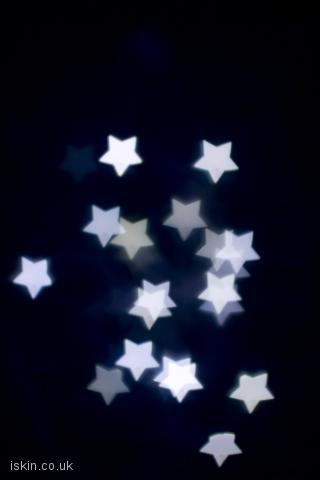 iphone landscape wallpaper White Stars