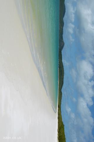 iphone landscape wallpaper Whitehaven Beach