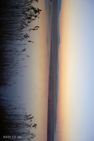 iphone landscape wallpaper Estuary Sunrise