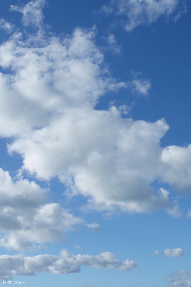 Fluffy White Clouds Desktop Wallpaper Iskin Co Uk
